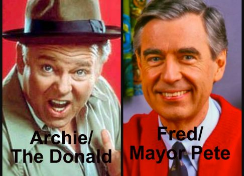 Archie Bunker vs Mr. Rogers