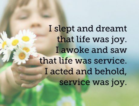 Is a life of service a life of joy?